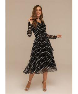 DEMURYA | Платье В Крупный Горох С Поясом