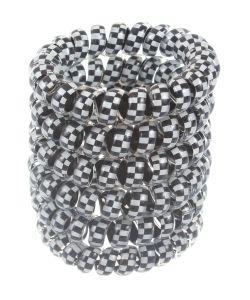 Радужки | Резинки Спиральки Дл Волос 5 См Силиконовые Шахматы 6 Штук