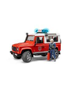 Bruder | Внедорожник Land Rover Defender Station Wagon Пожарная С Фигуркой