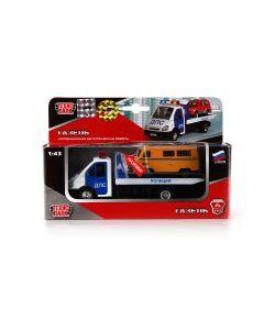 Технопарк | Машина Металлическая Инерционная Газель Эвакуатор Дпс 143 Свет И Звук