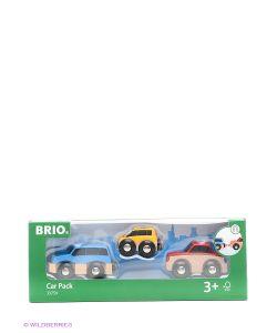 Brio | 3 Деревянные Машинки С Магнитами 33759