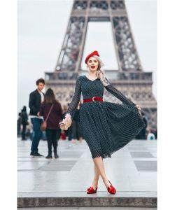 DEMURYA | Платье В Мелкий Горох С Поясом