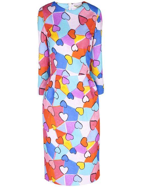 Tata Naka | Женское Многоцветное Шерстяное Платье