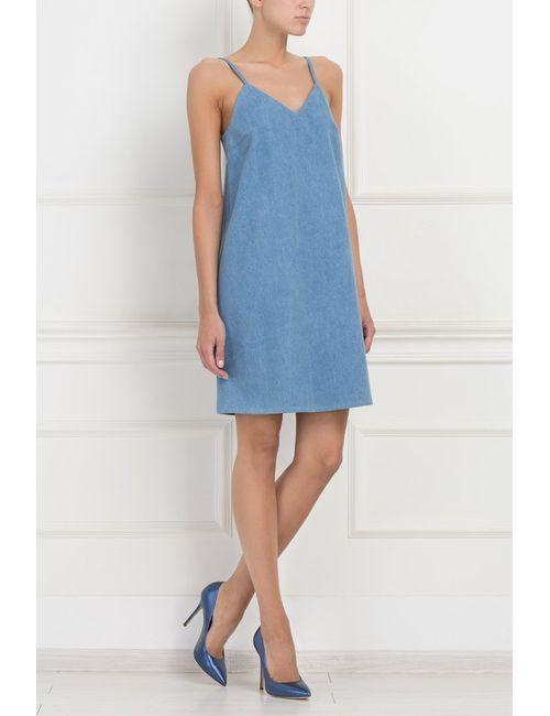 ARnouveau   Женское Голубой Хлопковое Платье