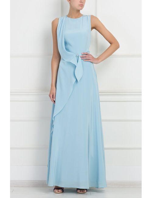 A La Russe | Женское Голубое Шелковое Платье