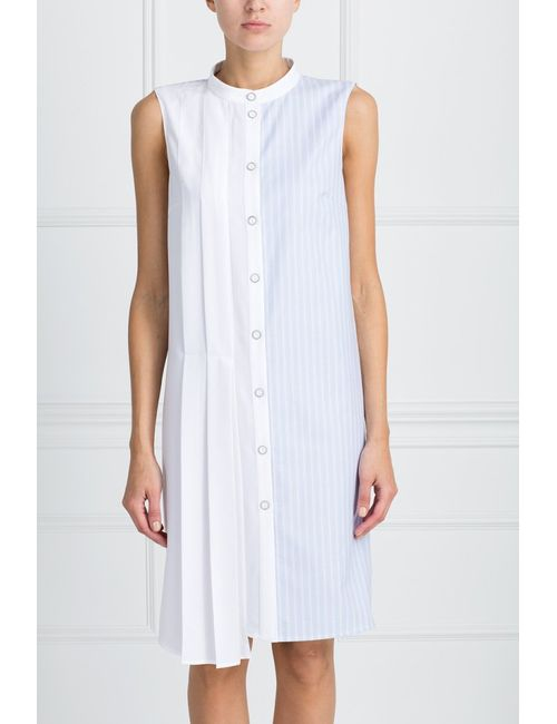 ARnouveau | Женское Голубое Платье С Принтом
