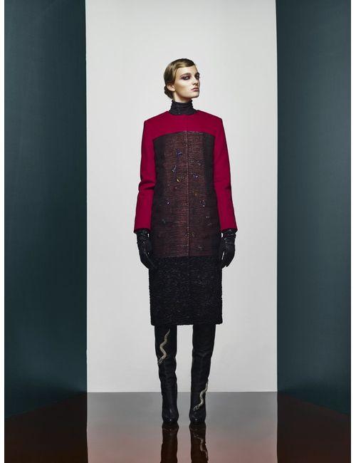 A La Russe | Красное Шерстяное Пальто