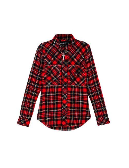 Filles A Papa | Женская Красная Шерстяная Рубашка Toxic