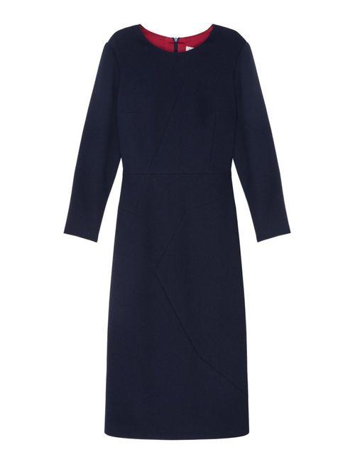 A La Russe | Женское Синее Шерстяное Платье