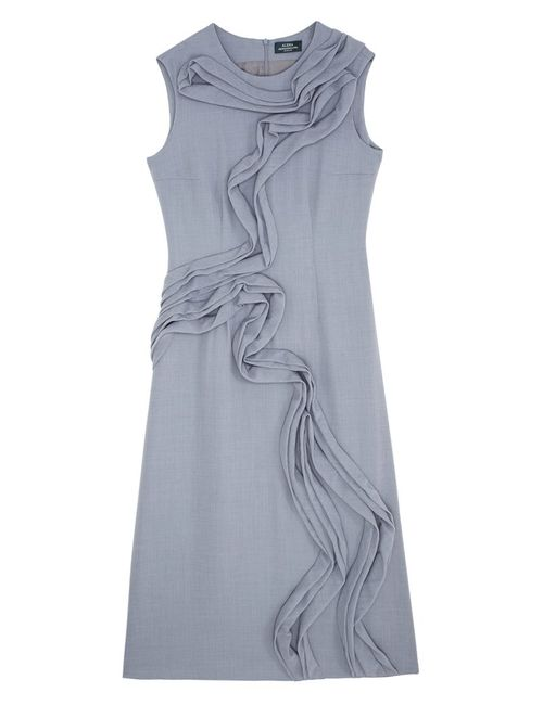 Alena Akhmadullina | Женское Серое Шерстяное Платье