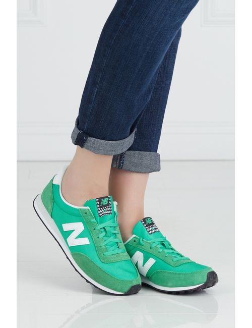 New Balance | Женские Зелёные Кроссовки 410