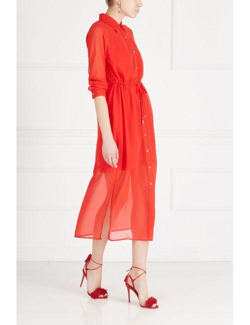 MO&Co | Женское Красное Однотонное Платье