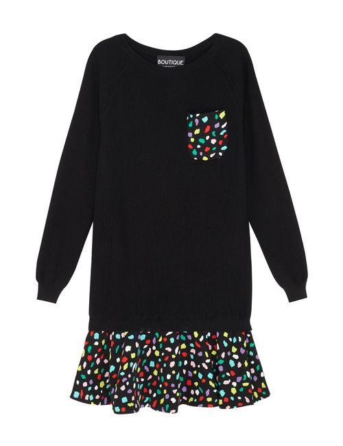 BOUTIQUE MOSCHINO | Женское Многоцветное Платье С Принтом