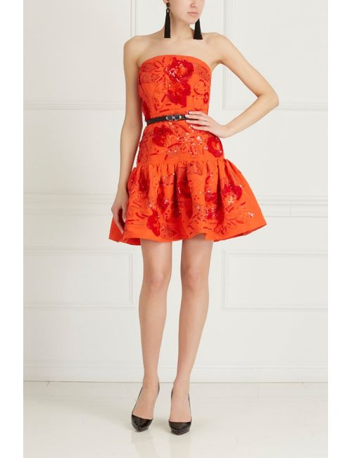 Oscar de la Renta | Женское Шелковое Платье С Вышивкой