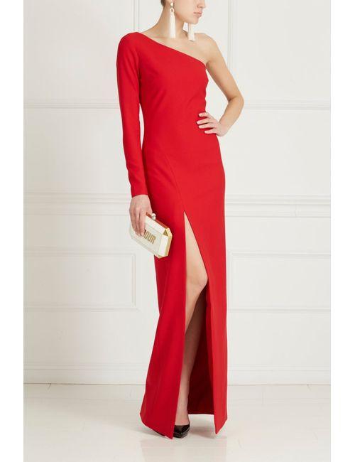 Elizabeth And James   Женское Красное Асимметричное Платье