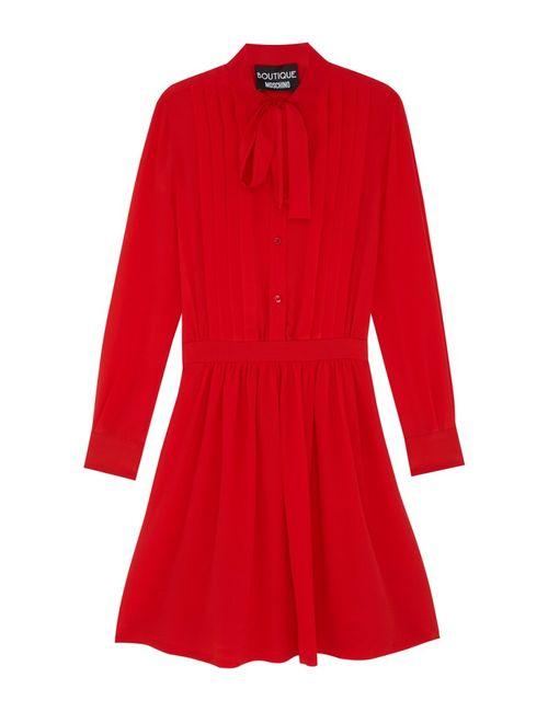 Moschino Boutique | Женское Красное Шелковое Платье