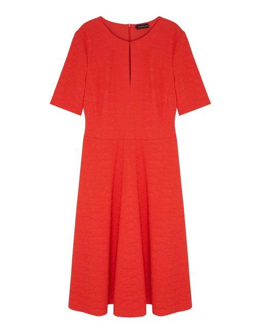 Chapurin | Женское Красное Однотонное Платье