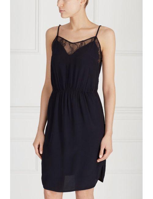 Bruuns Bazaar | Женское Синее Платье С Кружевом