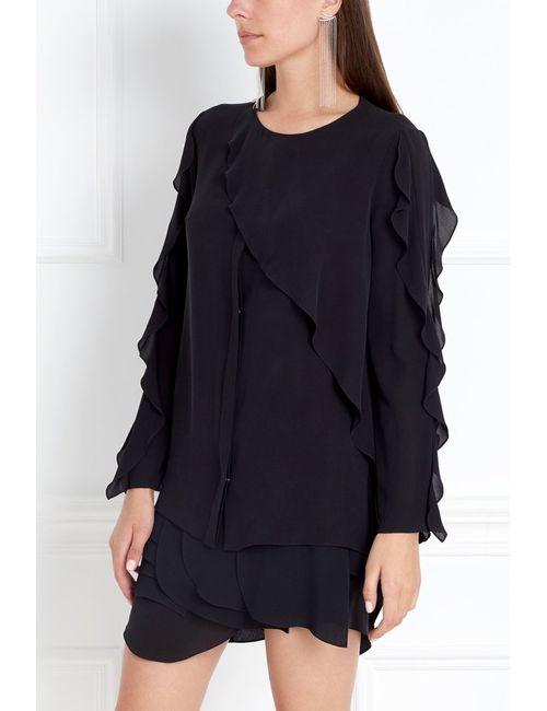 Chapurin | Женская Черный Шелковая Блузка