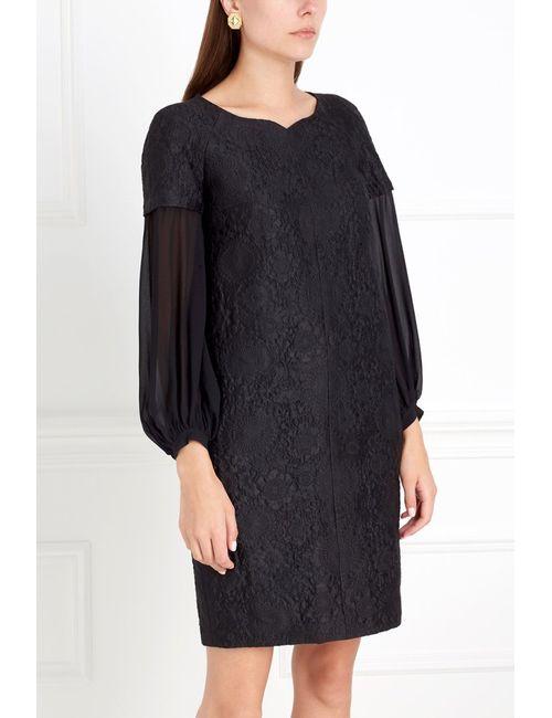 Chapurin | Женское Чёрное Платье Из Жаккарда