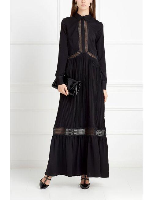 SELF-PORTRAIT | Женское Чёрное Платье В Пол