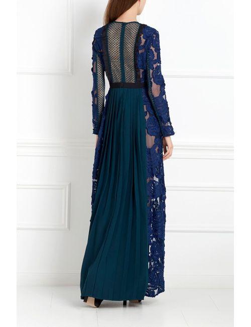 SELF-PORTRAIT | Женское Синее Кружевное Платье