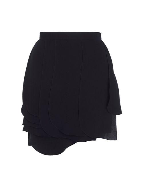 Chapurin | Женская Чёрная Шелковая Юбка