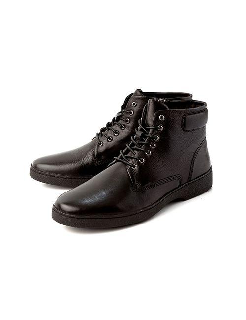 Alba | Мужские Чёрные Ботинки 2101001980482Черный