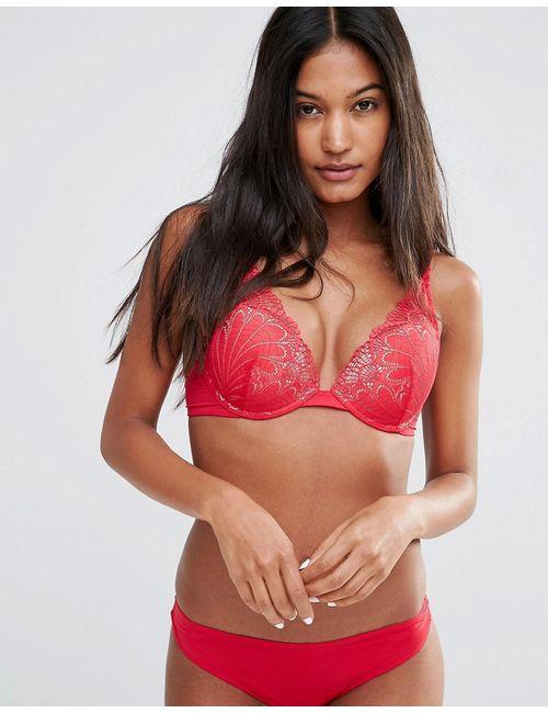 Wonderbra | Женский Красный Бюстгальтер С Треугольными Чашечками Refined Glamour