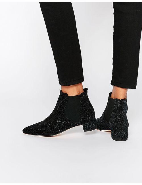 Miista | Женские Чёрные Кожаные Ботинки Челси Beau