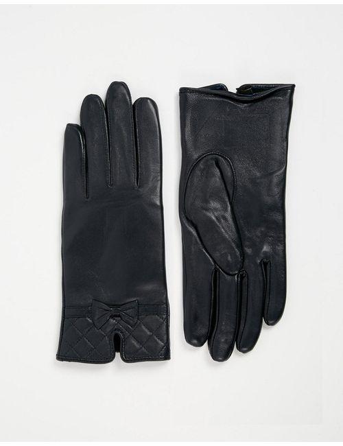 Totes | Синие Кожаные Перчатки Со Стегаными Манжетами