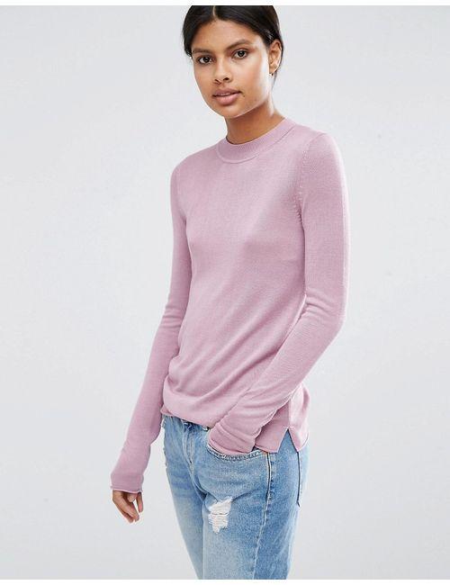 Asos | Фиолетовый Мягкий Джемпер С Круглым Вырезом