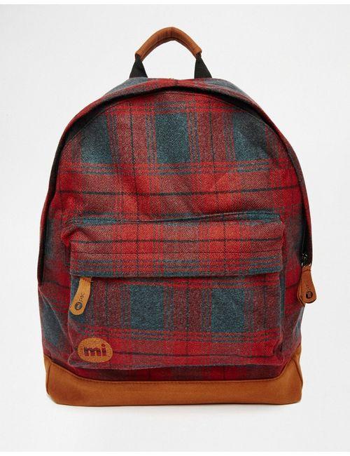 MI-PAC | Красный Рюкзак В Клетку
