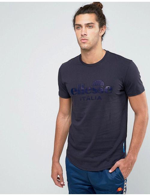 Ellesse | Мужская Серая Футболка С Большим Логотипом Italia