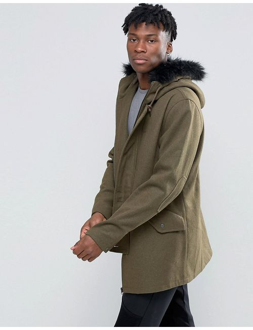 D-Struct | Зелёный Wool Blend Jacket