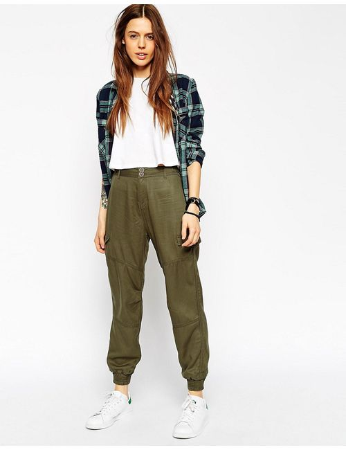 ASOS Collection | Asos Casual Cuffed Trousers With Seam Details