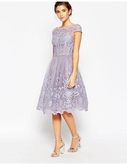 Chi Chi London | Женское Кружевное Платье Для Выпускного С Широкой Горловиной