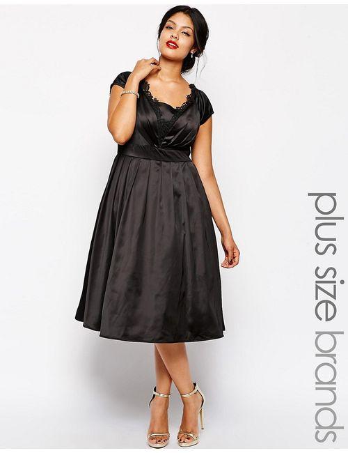 Chi Chi London | Женское Платье Для Выпускного Миди Chi Chi Plus