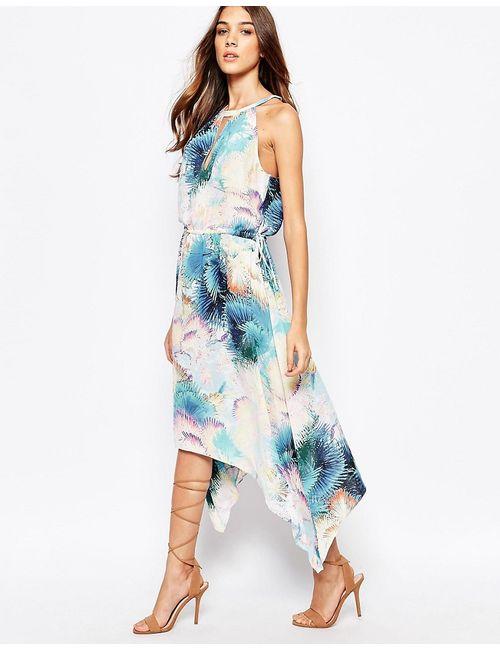 BCBGMAXAZRIA | Женское Платье Миди С Пальмовым Принтом Keelie
