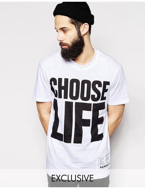 Hamnett | Белая Футболка Со Слоганом Choose Life Эксклюзивно Для