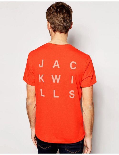 Jack Wills   Футболка С Логотипом Jw И Принтом На