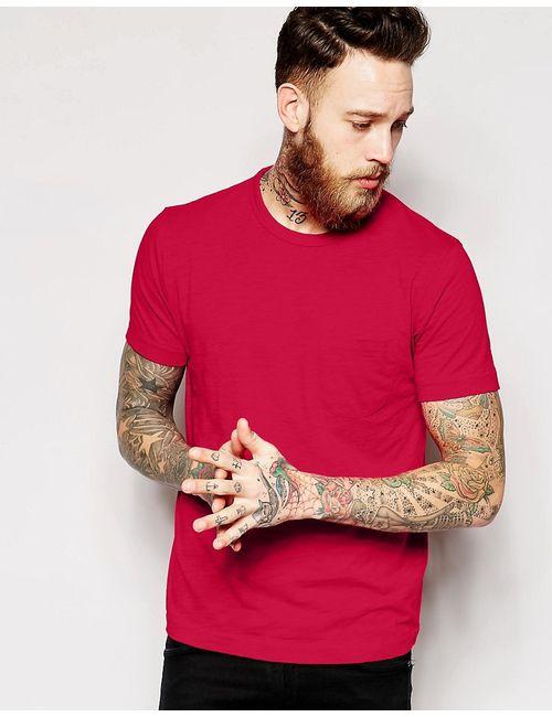 YMC | Красная Футболка С Карманом