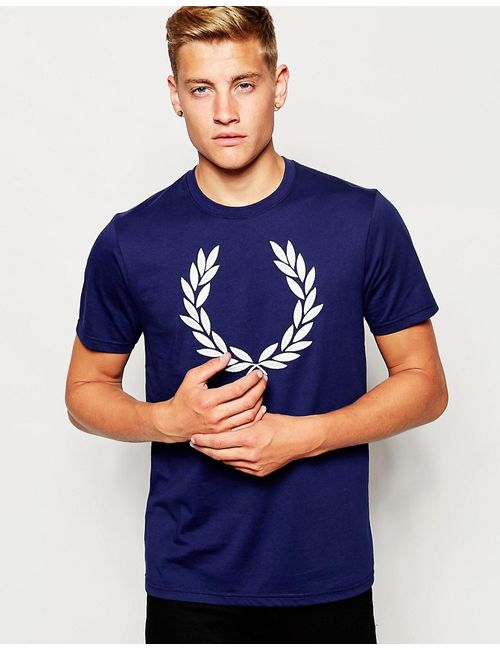 Fred Perry | Синий T-Shirt With Laurel Wreath Logo In French