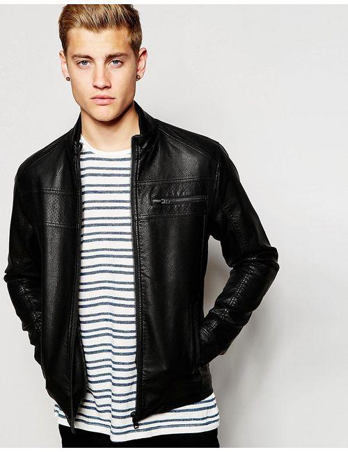Jack & Jones | Черный Куртка Из Искусственной Зерненой Кожи Jack Jones