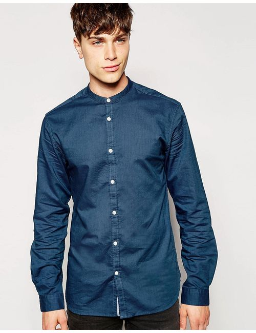 Jack & Jones | Синяя Рубашка С Воротником На Пуговицах Jack Jones