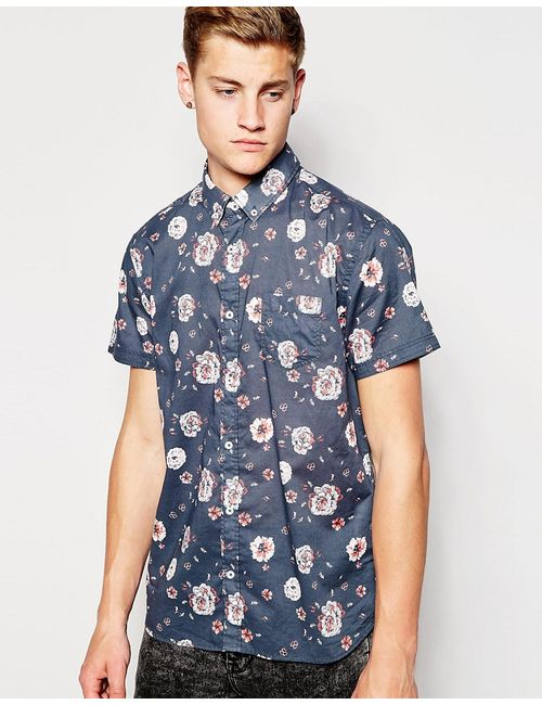 Jack & Jones | Navy Blazer Jack Jones Short Sleeve Shirt With All