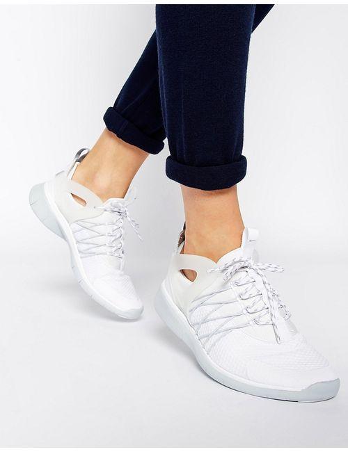 Nike   Женские Белые Бело-Серые Кроссовки Free Viritous