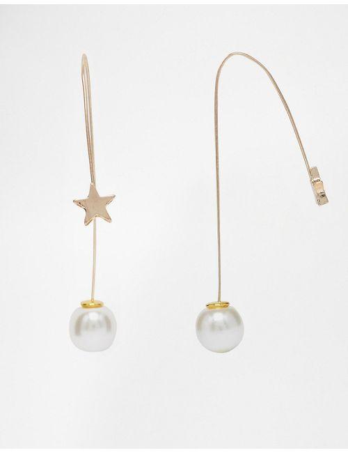 ASOS Collection | Женские Золотые Сквозные Серьги Со Звездочками И Жемчугом Asos