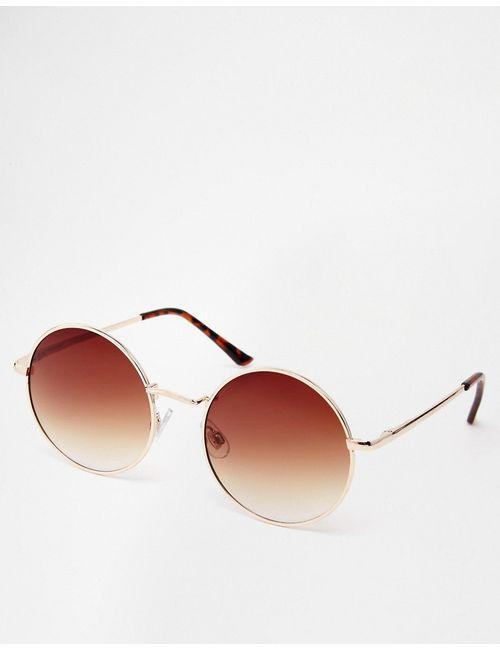 ASOS Collection | Золотые Маленькие Круглые Солнцезащитные Очки Asos