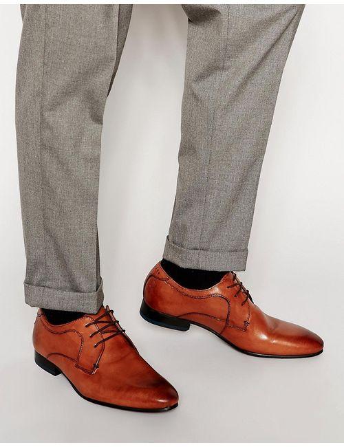 Ted Baker | Мужские Коричневые Кожаные Туфли Дерби Leam